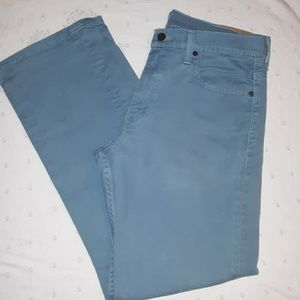 "32""X32"" Teal colored Levi's, excellent condition"